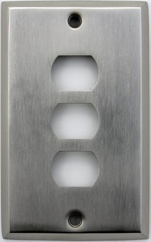 Classic Accents Stamped Steel Satin Nickel One Gang Three Despard Openings Wall (Steel Despard Wall Plate)