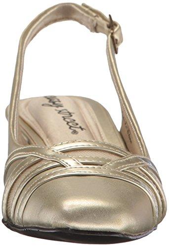 Easy Street Womens Kristen Dress Pump Champagne / Patent
