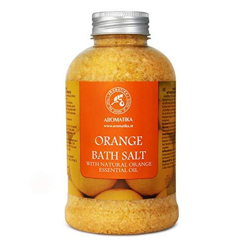 [Gesponsert]Badesalz mit 100% Natürlichem Ätherischen Orangenöl 600g - Meersalz am Besten für Guten Schlaf - Stressabbau -...