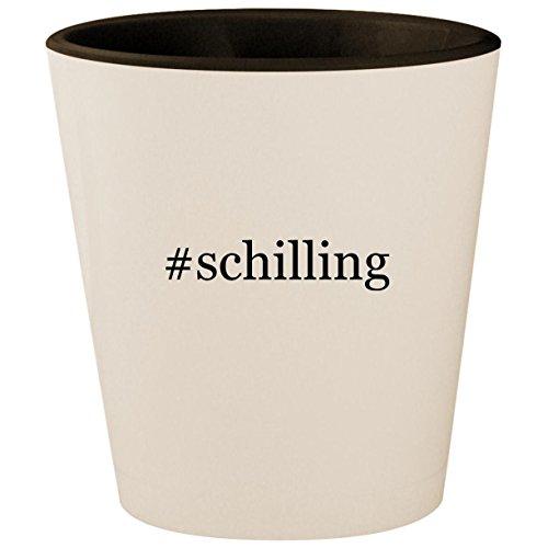 #schilling - Hashtag White Outer & Black Inner Ceramic 1.5oz Shot Glass