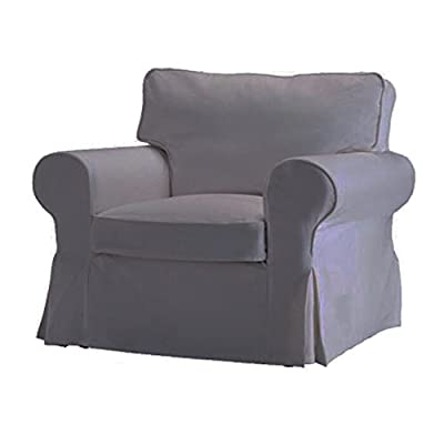 Replace Cover for IKEA Ektorp Armchair, 100% Cotton Sofa Cover for Ektorp Chair from Custom made covers by Linda Color
