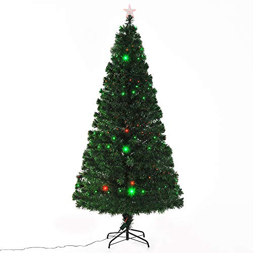 Fibre Optic Christmas Tree With Led Lights