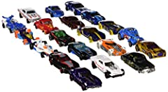 Reward your child—or your inner child—with Hot Wheels cars! This pack is trunkloads of fun with 20 Hot Wheels vehicles included. Collectors and car enthusiasts admire these amazing 1:64 scale vehicles with fondness and reverence. Kids love th...