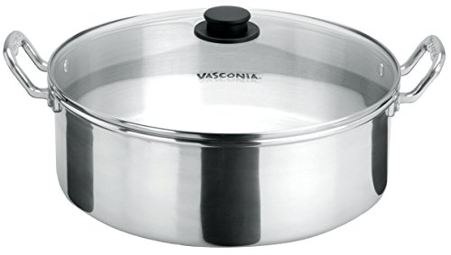 Vasconia 4007275 13.3-Inch Brazier with Glass Lid, Large, Aluminum