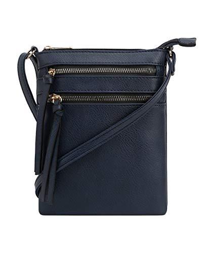 DELUXITY   Crossbody Wristlet Bag   Functional Multi Pocket