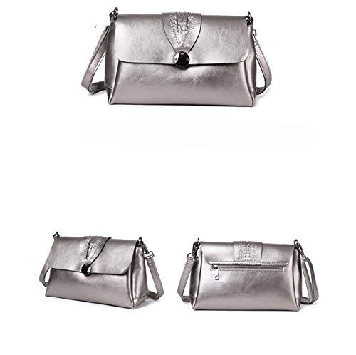 Cuir Cuir Cire Fashion Unique Sac épaule Pochette Main à Hongge chaîne Messenger C wdIxXYzqq