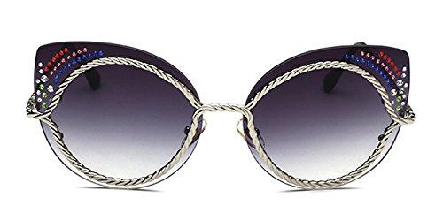 Slocyclub Fashion Lady Sunglasses 2017 New Personality Diamond Metal - Glasses Online Shopping Cooling
