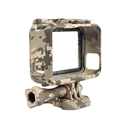Williamcr Camouflage Standard Protective Dive Housing Hard Cover Stand for GoPro 5 6 Black Outside Sport Camera GoPro Hero 5 Black Case (Camouflage Gray) (Camouflage Camera Case)