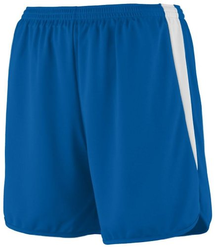 picture of Augusta Sportswear 346 Youth's Velocity Track Short Royal/White Small