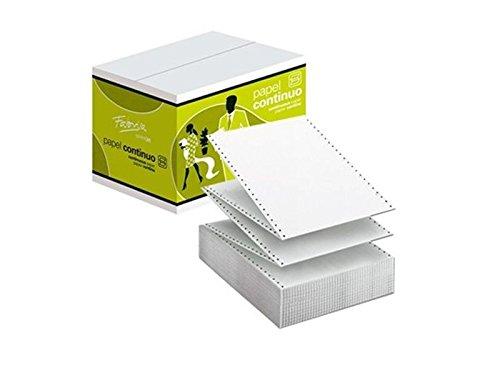 Fabrisa 1241022 - Caja de 1500 hojas de papel continuo, 2 ...