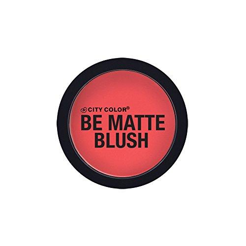 CITY COLOR COSMETICS Be Matte Blush | Blendable Mineral Makeup Powder (Blood Orange) - Blood Powder