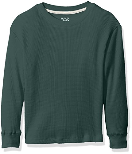 French Toast Little Boys' Thermal Tee Shirt, Dark Green, 5