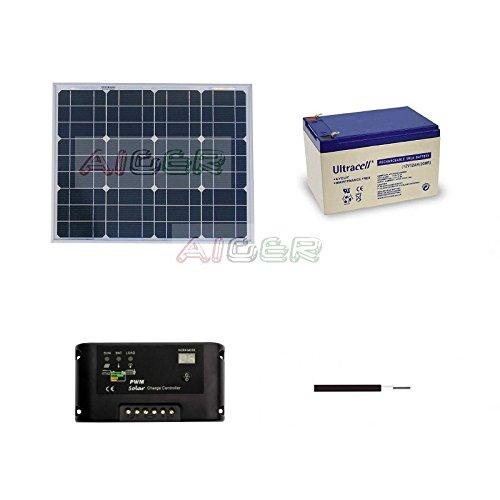 Kit fotovoltaico de 30 W a 12 V