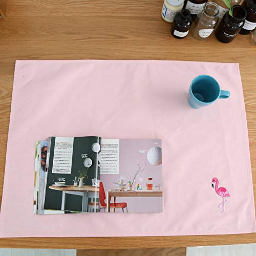 KathShop Hot Table Mat Cup Bowl Pad Cloth Cotton Flamingo Animal Pattern Home Food Photos Background Fabric Mat 5070cm 1PC