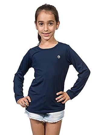 33a2a8d0b7 Camiseta Infantil Feminina com Proteção Solar Manga Longa Extreme UV ...
