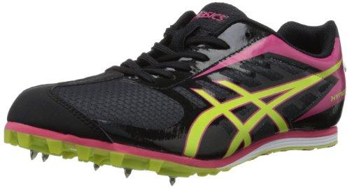 ASICS Women's Hyper LD 5 Track Shoe,Black/Lime/Pink,10.5 M U