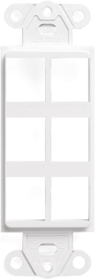 Leviton 41646-W QuickPort Decora Insert, 6-Port, White