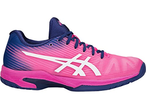 ASICS Women's Solution Speed FF Tennis Shoes, Pink/White, Size 8.5