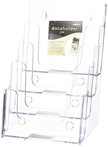 Docupocket Stackable Wall Letter Size 3 Pocket Clear