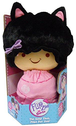 Flip Zee Girls Zuri Kitty Cat Sweet and Cuddly 2-in-1 Plush Doll