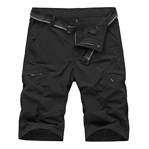 OCHENTA Mens Outdoor Expandable Waist Lightweight Quick Dry Shorts Hiking Camping