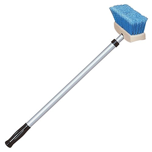 Star brite Brush & Compact Handle Combo - Extends 2'-4' - Made in (Deck Brush)