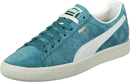 Puma Clyde Premium Core Harbor Blue-Whisper White