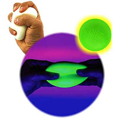Schylling Glow in The Dark NeeDoh (Groovy Glowing Glob) Squishy, Squeezy, Stretchy Stress Balls Gift Set Bundle - 2 Pack: Toys & Games