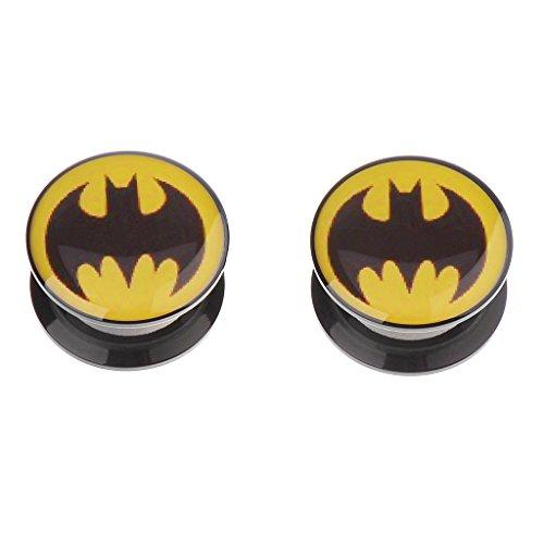 batman 2 gauge ear plugs - 4