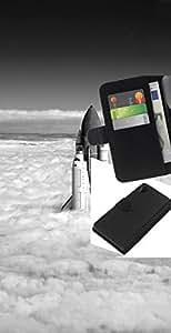 NEECELL GIFT forCITY // Billetera de cuero Caso Cubierta de protección Carcasa / Leather Wallet Case for Sony Xperia Z2 D6502 // Space Shuttle Nubes