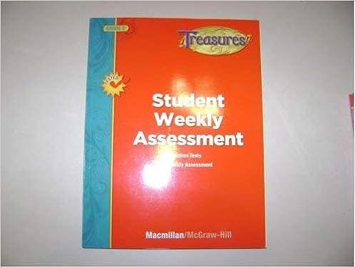 Student Weekly Assessment Grade 2 Treasures Paperback