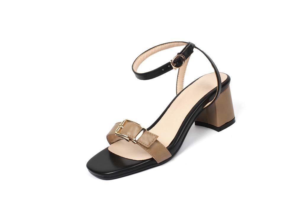 MENGLTX Talon Aiguille Talons Hauts Sandales Plus La Taille 33-44 Simples Chaussures D'Été Chaussures Couleurs Mélangées Mode Femmes Sandales Talons Hauts Chaussures Femme