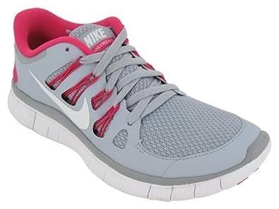 Nike Free 5.0+ Running Shoes Gray Pink White 580591-061 Women
