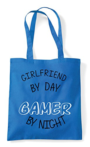 Shopper Day By Tote Night Gaming Personalised Gamer Bag Statement Sapphire Girlfriend zqxdaw5nq