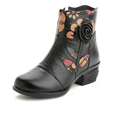 da da Nero Dimensione Vintage 40 Nero Scarpe Scarpe Morbide Donna Colore con Caviglia EU ZHRUI tqpZWFa