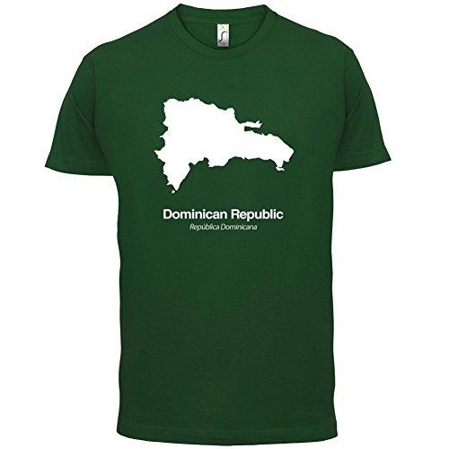 Dominican Republic / Dominikanischen Republik Silhouette - Herren T-Shirt - Flaschengrün - L