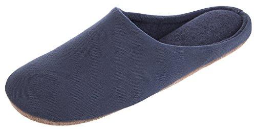 Mescolanza Di Pantofole In Misto Cotone Da Uomo Casual Colore Puro Grigio