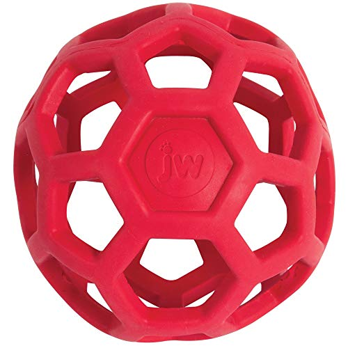 Jw Pet Rubber Balls - JW Hol-ee Roller Original Treat Dispensing Dog Ball - Hard Natural Rubber - Assorted Colors