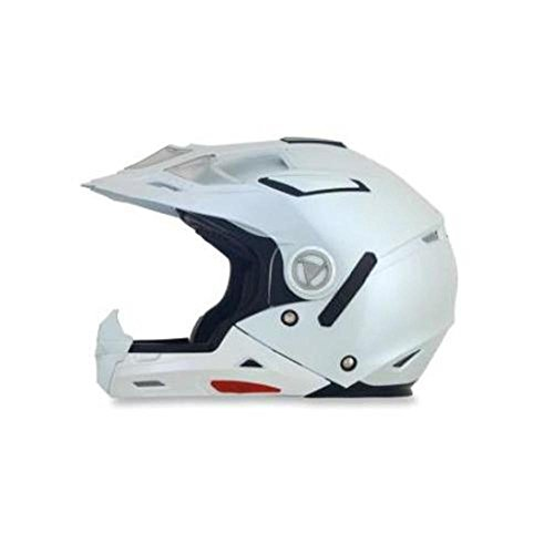 AFX FX-55 7-In-1 Solid Helmet , Distinct Name: Pearl White, Gender: Mens/Unisex, Helmet Category: Street, Helmet Type: Modular Helmets, Primary Color: White, Size: Lg 0104-1270