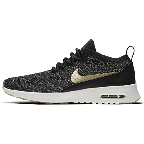 Nike Womens Wmns Air Max Thea Ultra FK MTLC, BLACK/METALLIC GOLD STAR-IVORY Black/Metallic Gold Star/Ivory