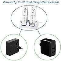 Amazon.com: Wii - Cargador de batería para mando a distancia ...