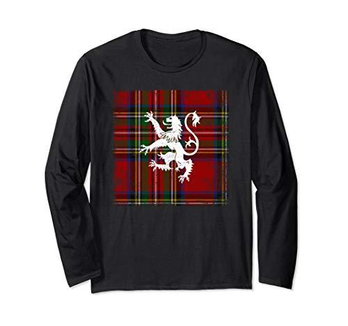 Scottish Tartan Shirt Red Plaid Lion Royal Stewart Clan ()