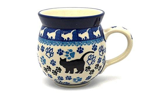 (Polish Pottery Mug - 11 oz. Bubble - Boo Boo Kitty)