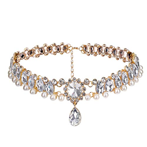 Wcysin Women Girls Luxury Choker Necklace Crystal Diamond Pendant Necklace ()