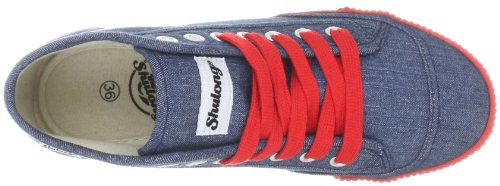 Shulong Unisex Adults' ShuDenim High Hi-Top Sneakers Red - Red outlet lowest price sale marketable discount perfect sale in China Hgjwmdp