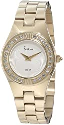 Freelook Women's HA2082G-3A All Shiny Gold With Swarovski Bezel Watch