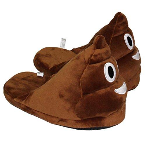 créative chaussons D Demi peluche en chaussons Paquet Expression avec mode Emoji Sannysis® laine ZwFqzHXx
