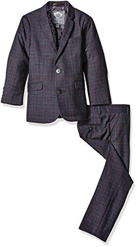 Appaman Boys' Big Boys' Tattersal Mod Suit, Navy Tattersall Plaid, 14 by Appaman (Image #1)