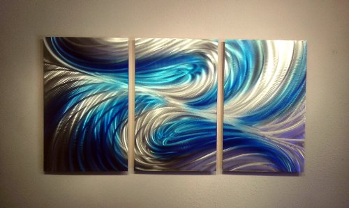 Metal Wall Art, Modern Home Decor, Abstract Artwork Sculpture- 47'' Echo 3 Blues by Miles Shay by Miles Shay