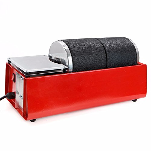 2 Drum Rotary Rock Stone Metal Tumbler Polisher Dual Drum Rubber Barrels Smooth Electric Jewelry - Singapore Tiffany Price